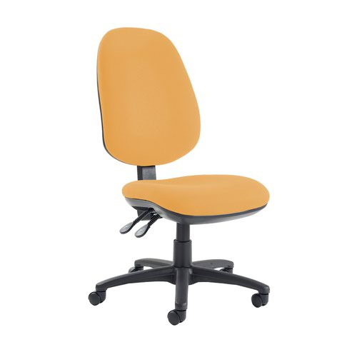 Jota extra high back operator chair with no arms - Solano Yellow
