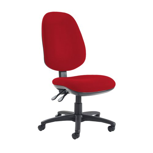 Jota extra high back operator chair with no arms - Panama Red