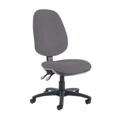 Jota extra high back operator chair with no arms - Blizzard Grey