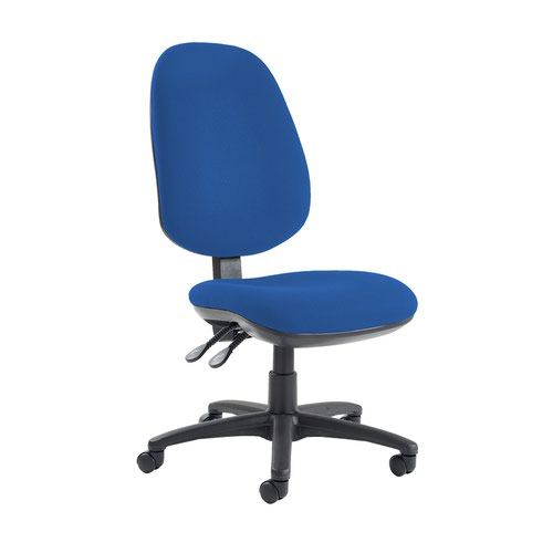 Jota extra high back operator chair with no arms - Scuba Blue