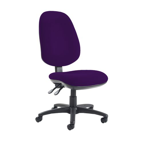 Jota extra high back operator chair with no arms - Tarot Purple