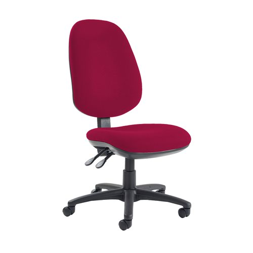 Jota extra high back operator chair with no arms - Diablo Pink