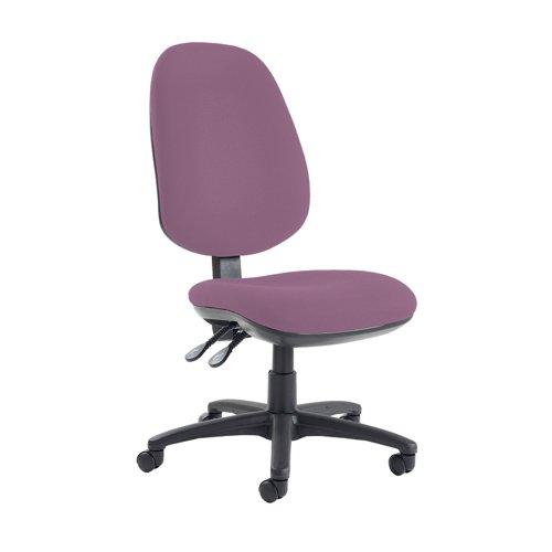 Jota extra high back operator chair with no arms - Bridgetown Purple