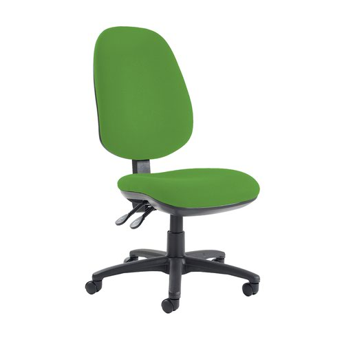 Jota extra high back operator chair with no arms - Lombok Green