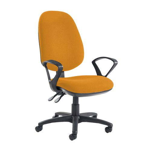 Jota extra high back operator chair with fixed arms - Solano Yellow