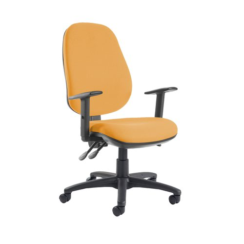 Jota extra high back operator chair with adjustable arms - Solano Yellow