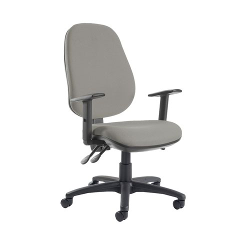 Jota extra high back operator chair with adjustable arms - Slip Grey