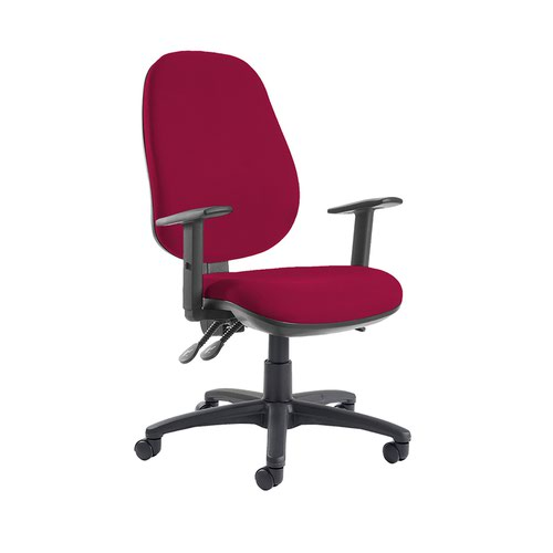 Jota extra high back operator chair with adjustable arms - Diablo Pink