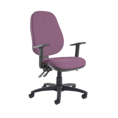 Jota extra high back operator chair with adjustable arms - Bridgetown Purple