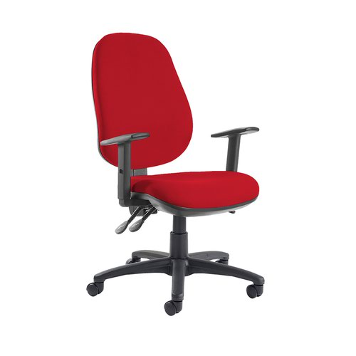 Jota extra high back operator chair with adjustable arms - Belize Red