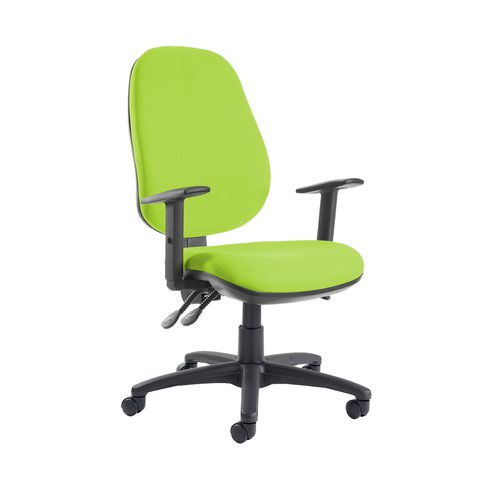 Jota extra high back operator chair with adjustable arms - Madura Green