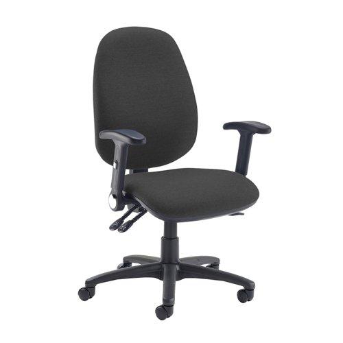 Jota extra high back operator chair with folding arms - Havana Black