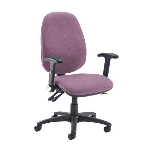 Jota extra high back operator chair with folding arms - Bridgetown Purple