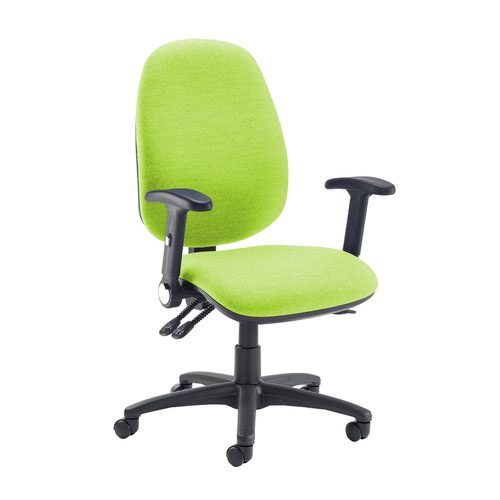 Jota extra high back operator chair with folding arms - Madura Green