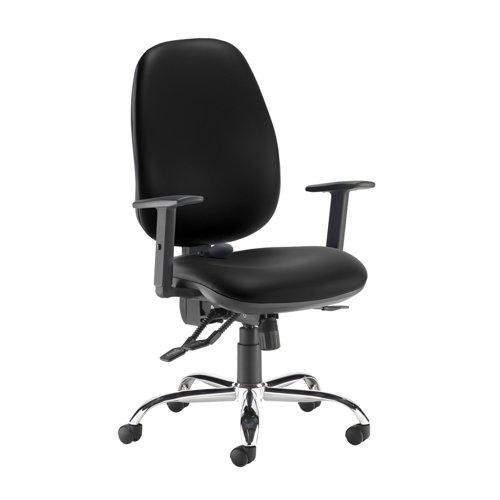 Jota ergo 24hr ergonomic asynchro task chair - Nero Black vinyl