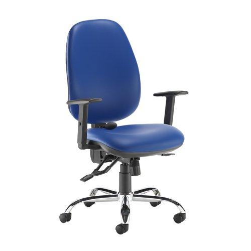Jota ergo 24hr ergonomic asynchro task chair - Ocean Blue vinyl