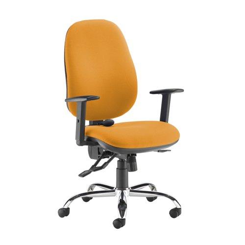 Jota ergo 24hr ergonomic asynchro task chair - Solano Yellow