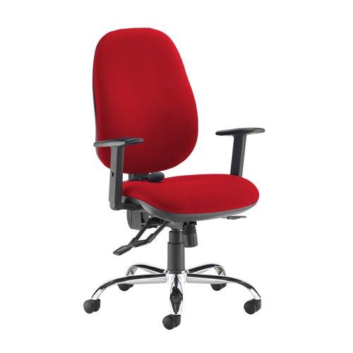 Jota ergo 24hr ergonomic asynchro task chair - Panama Red