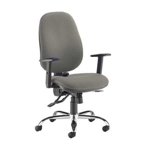 Jota ergo 24hr ergonomic asynchro task chair - Slip Grey