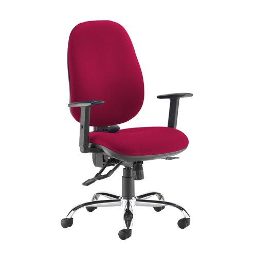 Jota ergo 24hr ergonomic asynchro task chair - Diablo Pink