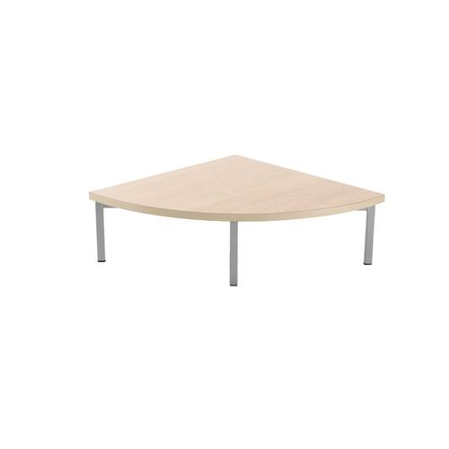 Kraft corner unit table 700mm x 700mm with oak top - made to order