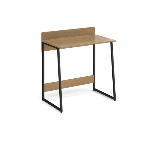 Kyoto home office workstation with upstand - Summer oak with black frame by Dams International, DES2999