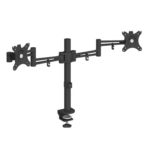 Luna double flat screen monitor arm - black