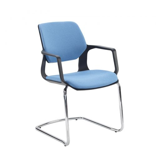 Lennon Fabric Conference Chair With Chrome Cantilever Frame  Made To Order