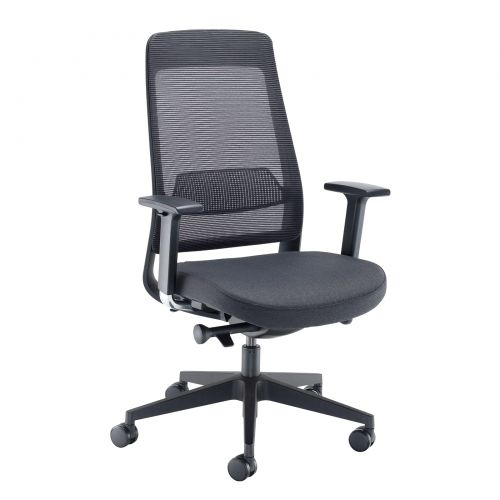 Lennon Mesh Back Operators Chair With Adjustable Arms Made To Order
