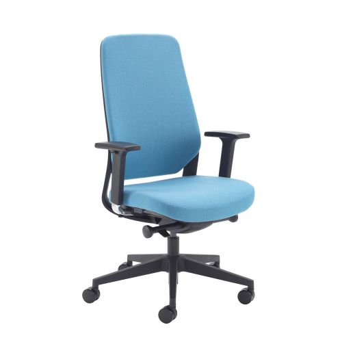 Lennon Fabric Operators Chair With Adjustable Arms Made To Order