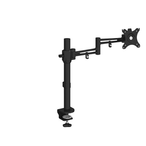Luna single flat screen monitor arm - black