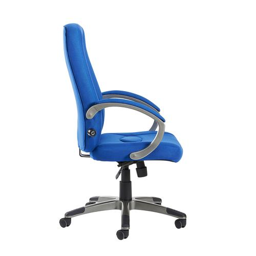 Lucca high back fabric managers chair - blue Office Chairs LUC300T1-B