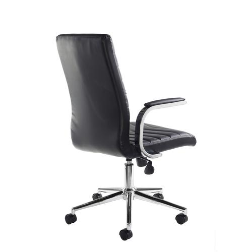Martinez high back managers chair - black faux leather Office Chairs MAR50004