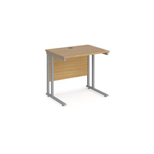 Maestro 25SL Rectangular Desk 800x600x725mm Oak MC608O