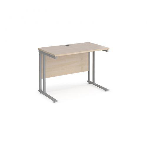 Maestro 25SL Rectangular Desk 1000x600x725mm Maple MC610M