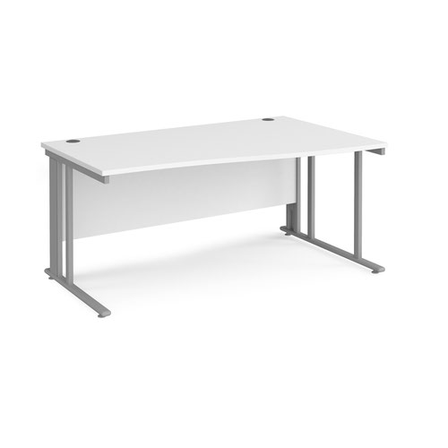 Maestro 25 cable managed right hand wave desk