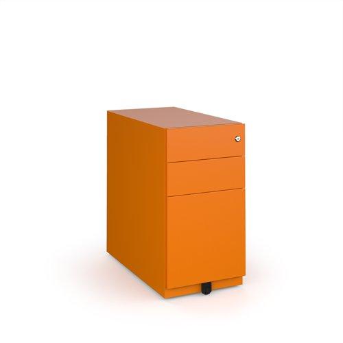 Bisley slimline steel pedestal 300mm wide - orange