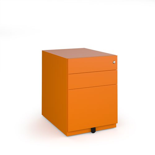 Bisley wide steel pedestal 420mm wide - orange