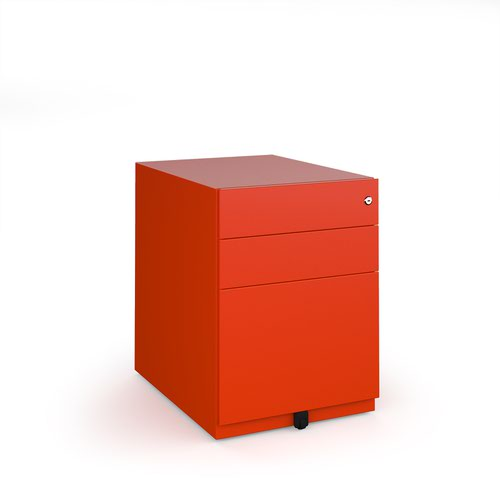 Bisley wide steel pedestal 420mm wide - red