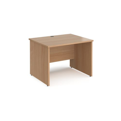 Maestro 25 straight desk 1000mm x 800mm - beech top with panel end leg