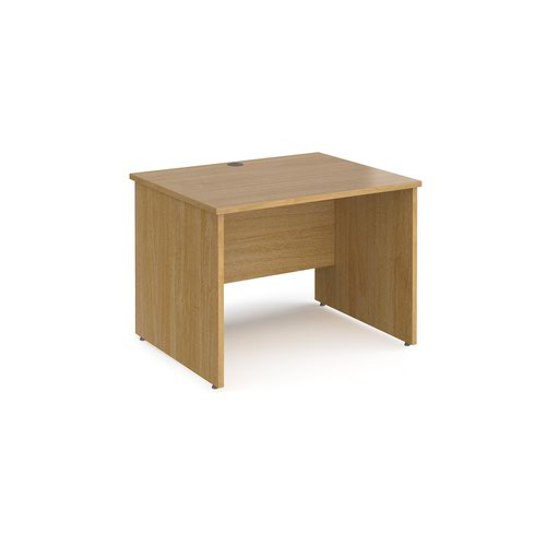 Maestro 25 straight desk 1000mm x 800mm - oak top with panel end leg