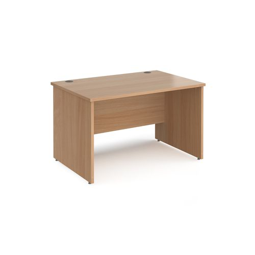 Maestro 25 straight desk 1200mm x 800mm - beech top with panel end leg