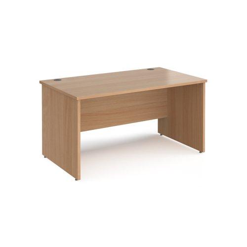Maestro Panel End Rectangular Desk (1400w x 800d) Beech (MW14)