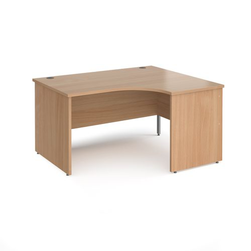 Maestro Panel End Right Hand Radial Desk (1400w x 1200d) Beech (25WER14)