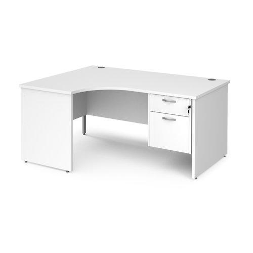 Maestro 25 panel end left hand ergonomic desk with 2 drawer ped