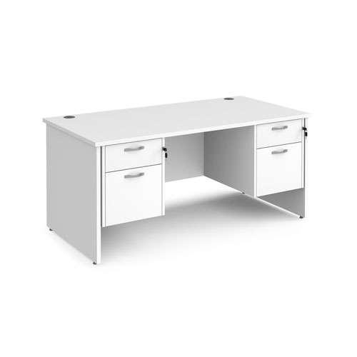 Maestro 25 panel end 800mm deep desk with 2 x 2 drawer peds