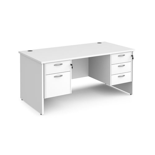 Maestro 25 panel end 800mm deep desk with 2 & 3 drawer peds