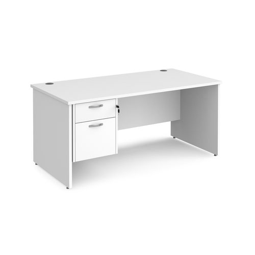Maestro 25 panel end 800mm deep desk with 2 drawer ped