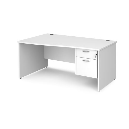 Maestro 25 panel end left hand wave desk with 2 drawer ped