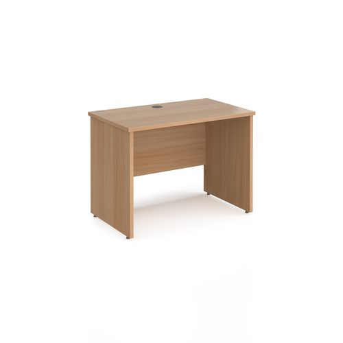 Maestro 25 straight desk 1000mm x 600mm - beech top with panel end leg